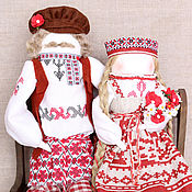 """Куклы и игрушки ручной работы. Ярмарка Мастеров - ручная работа """"Жених да Невеста...тили тили тесто...."""" авторские куклы образы.. Handmade."""