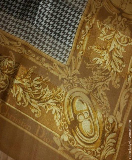 Винтажная одежда и аксессуары. Ярмарка Мастеров - ручная работа. Купить шелковый платок  Dior  барокко оригинал винтаж. Handmade. Комбинированный