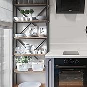 Стеллажи ручной работы. Ярмарка Мастеров - ручная работа Кухонный стеллаж в стиле лофт (индустриальный стиль). Handmade.