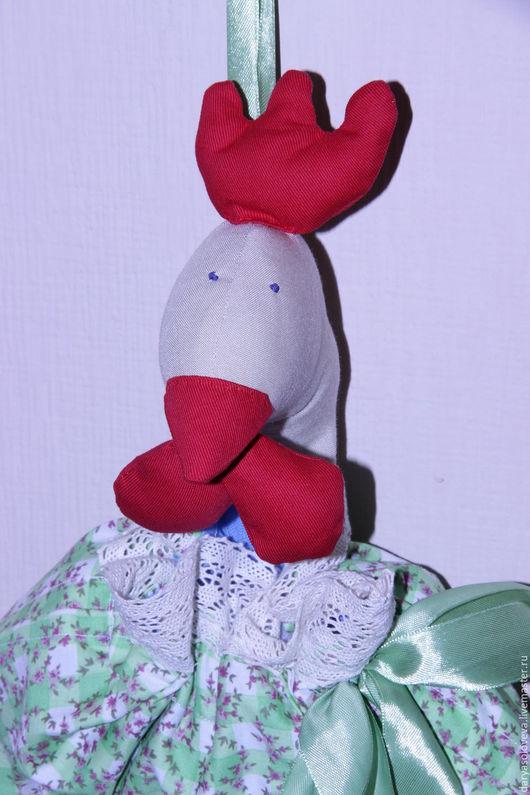 Новый год 2017 ручной работы. Ярмарка Мастеров - ручная работа. Купить Петух-пакетница. Handmade. Зеленый, текстильная кукла