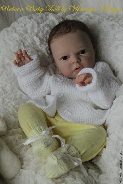 Куклы-младенцы и reborn ручной работы. Ярмарка Мастеров - ручная работа. Купить Ноа проснулась. Handmade. Желтый, виниловая плёнка