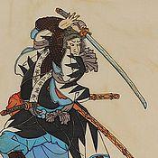 Картины и панно ручной работы. Ярмарка Мастеров - ручная работа 47 преданных самураев (репродукция гравюры). Handmade.