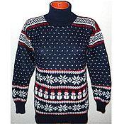 Одежда handmade. Livemaster - original item Women`s sweater with Norwegian pattern Snowman. Handmade.