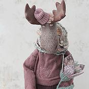 Куклы и игрушки handmade. Livemaster - original item Elk with a Magic flower. Handmade.