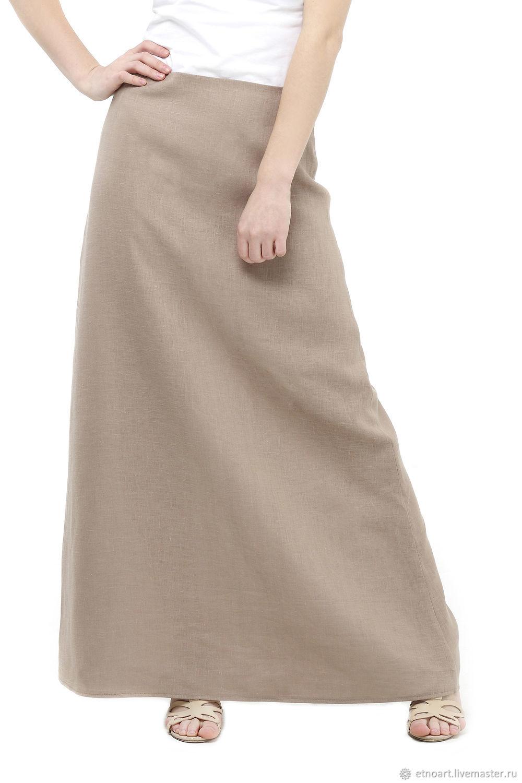 A-line linen skirt, Skirts, Tomsk,  Фото №1