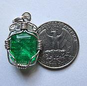 Украшения handmade. Livemaster - original item emerald necklace emerald pendant emerald jewelry. Handmade.