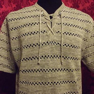 Одежда ручной работы. Ярмарка Мастеров - ручная работа 100%лён мужская рубашка. Handmade.