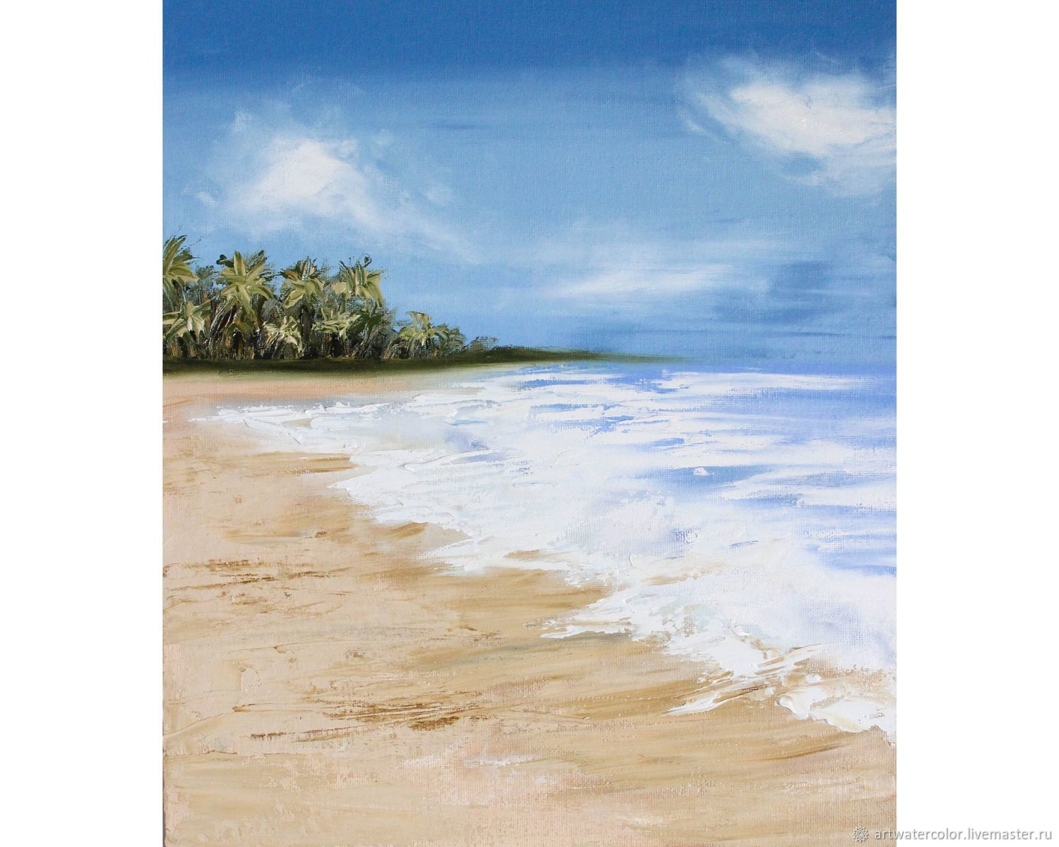 Oil painting sea Tropical beach, Pictures, Moscow,  Фото №1