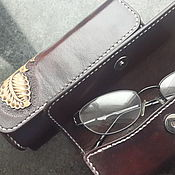 Сумки и аксессуары handmade. Livemaster - original item Eyeglass case genuine leather eyeglass case personalized. Handmade.