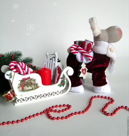 Куклы Тильды ручной работы. Ярмарка Мастеров - ручная работа. Купить Рождественский олень Ричи. Handmade. Бордовый, рождество, фетр