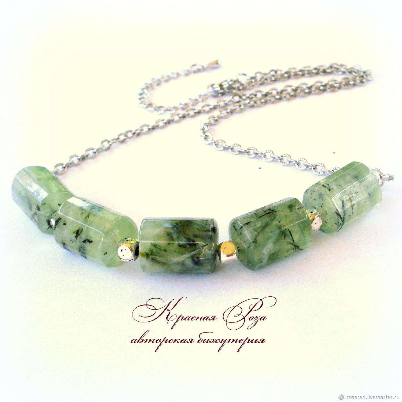Necklace of prehnite, Necklace, Stupino,  Фото №1