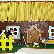 Для дома и интерьера ручной работы. Ярмарка Мастеров - ручная работа Домик в деревне. Handmade.