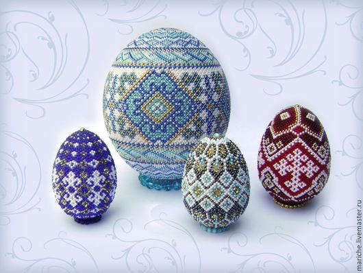 Яйца ручной работы. Ярмарка Мастеров - ручная работа. Купить Пасхальное яйцо. Handmade. Бисер, пасхальный подарок, подарок