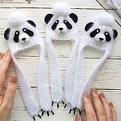 Куклы и игрушки handmade. Livemaster - original item beanie Panda. Size 18 - 19 cm (head circumference of the doll). Handmade.