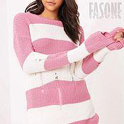 """Одежда ручной работы. Ярмарка Мастеров - ручная работа Платье розовое вязаное  """"Sweet"""" Розовое платье Розовое платье. Handmade."""