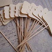 Свадебный салон handmade. Livemaster - original item Place cards on skewers. Handmade.