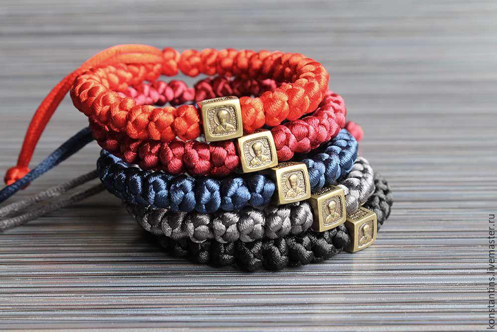 Православный плетеный браслет