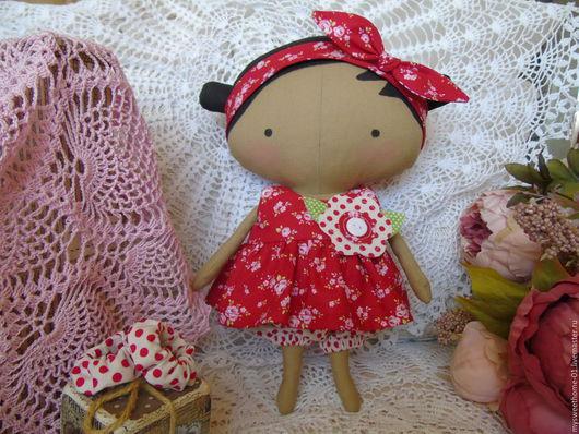 Куклы Тильды ручной работы. Ярмарка Мастеров - ручная работа. Купить Тильда куколка. Handmade. Комбинированный, подарок, кнопка