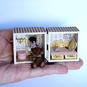 Куклы и игрушки ручной работы. Ярмарка Мастеров - ручная работа Домик в кубике для микро-мишки. Handmade.