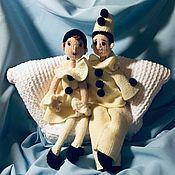 Мягкие игрушки ручной работы. Ярмарка Мастеров - ручная работа Мягкие игрушки: Пьеро и Пьеретта. Handmade.