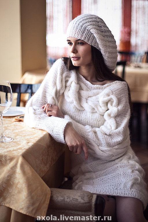 """Кофты и свитера ручной работы. Ярмарка Мастеров - ручная работа. Купить Комплект """"Очарование"""". Handmade. Платье, белый"""