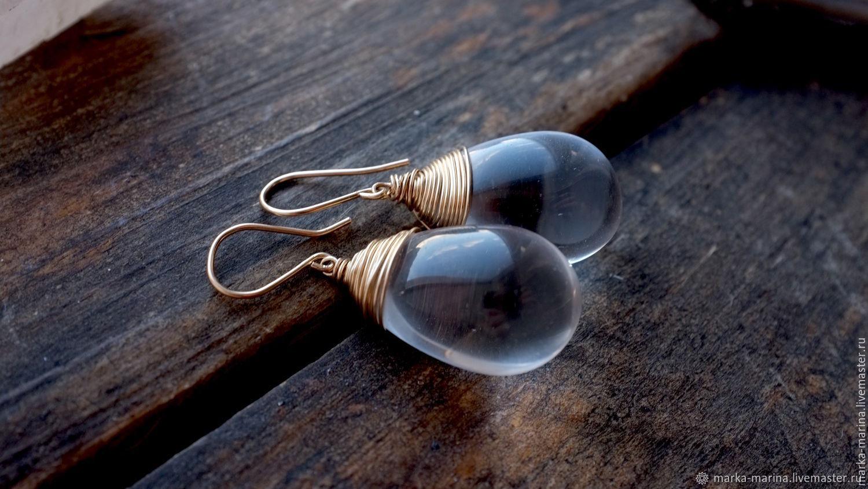 Large drop earrings 'Dior', Earrings, Samara,  Фото №1
