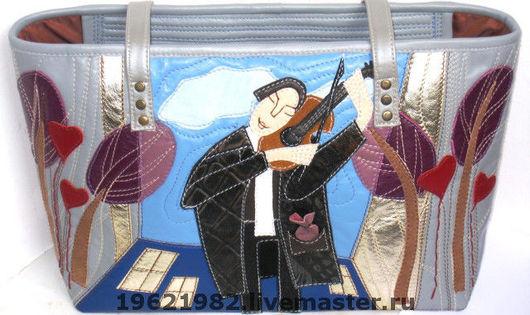 """Женские сумки ручной работы. Ярмарка Мастеров - ручная работа. Купить """"СКРИПАЧ НА КРЫШЕ"""". Handmade. Сумка, домик"""