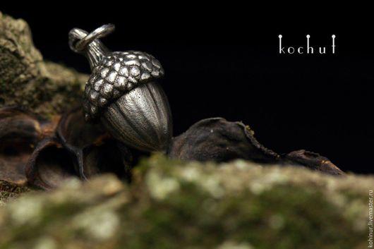 """Кулоны, подвески ручной работы. Ярмарка Мастеров - ручная работа. Купить Кулон """"Желудь"""". Handmade. Серебряный, металл, оксидированное серебро"""