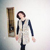 Одежда handmade. Livemaster - original item Knitted linen vest