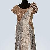 Одежда ручной работы. Ярмарка Мастеров - ручная работа Платье Кофейный аромат. Handmade.