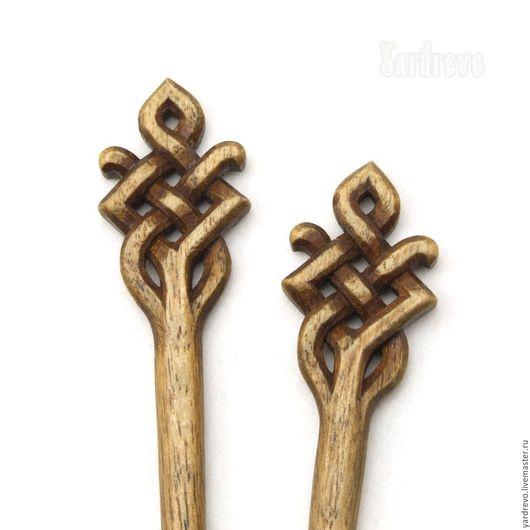 Заколки ручной работы. Ярмарка Мастеров - ручная работа. Купить Шпильки из дерева резные(Граб). Handmade. Коричневый, резьба по дереву, деревянная