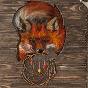 Картины и панно ручной работы. Ярмарка Мастеров - ручная работа Лиса. Handmade.