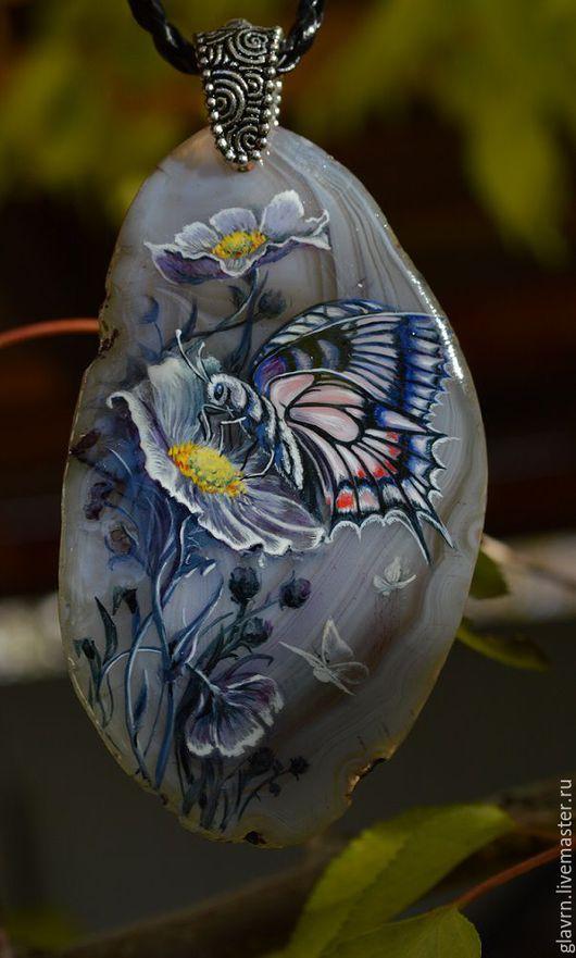 """Кулоны, подвески ручной работы. Ярмарка Мастеров - ручная работа. Купить Кулон """"Середина лета"""". Handmade. Разноцветный, кулон с камнем"""