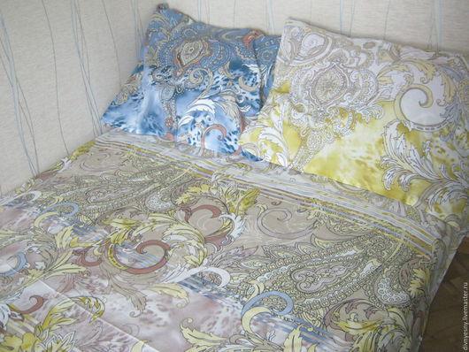 """Текстиль, ковры ручной работы. Ярмарка Мастеров - ручная работа. Купить Евро-комплект постельного белья """"Изыск"""". Handmade. Комбинированный"""