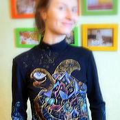 Одежда ручной работы. Ярмарка Мастеров - ручная работа Водолазка Черепашкин город. Handmade.