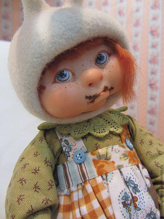 """Коллекционные куклы ручной работы. Ярмарка Мастеров - ручная работа. Купить """"Я не ела шоколад!"""" девочка-зайка.. Handmade. Девочка"""