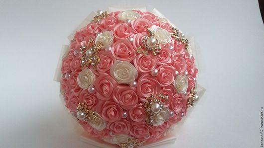 Свадебные цветы ручной работы. Ярмарка Мастеров - ручная работа. Купить Свадебный букет невесты,брошь букет. Handmade.