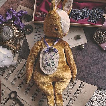 Куклы и игрушки ручной работы. Ярмарка Мастеров - ручная работа Заяц тедди-примитив Паскаль. (Дом нашел/ADOPTED). Handmade.