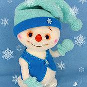 Куклы и игрушки ручной работы. Ярмарка Мастеров - ручная работа Снеговичок Кузёмка. Handmade.