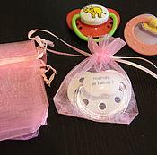 Куклы и игрушки ручной работы. Ярмарка Мастеров - ручная работа Мешочки для сосок 9х7см. Handmade.