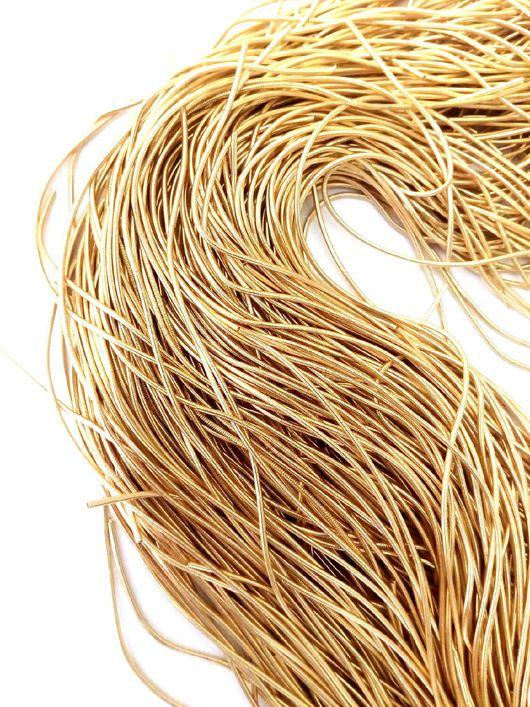 Вышивка ручной работы. Ярмарка Мастеров - ручная работа. Купить Канитель гладкая, 10 грамм, 1мм, старое золото, К011. Handmade.