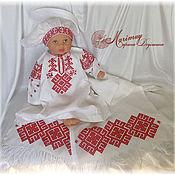 Работы для детей, ручной работы. Ярмарка Мастеров - ручная работа Комплект с вышивкой славянских символов. Handmade.
