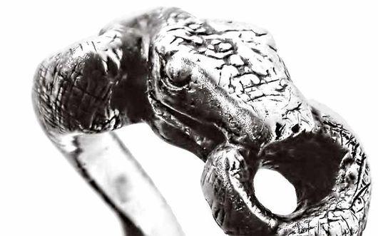 """Кольца ручной работы. Ярмарка Мастеров - ручная работа. Купить кольцо """"Уроборос"""". Handmade. Серебро, серебряное кольцо, авторское кольцо"""
