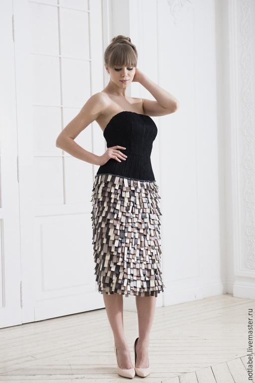 Платья ручной работы. Ярмарка Мастеров - ручная работа. Купить вечернее платье. Handmade. Болотный, коричневый, шелк натуральный, синтетика