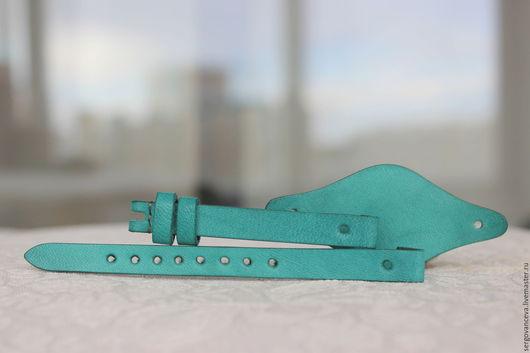 Часы ручной работы. Ярмарка Мастеров - ручная работа. Купить Ремешок на ваши часы FOSSIL в бирюзовом цвете!!!. Handmade.