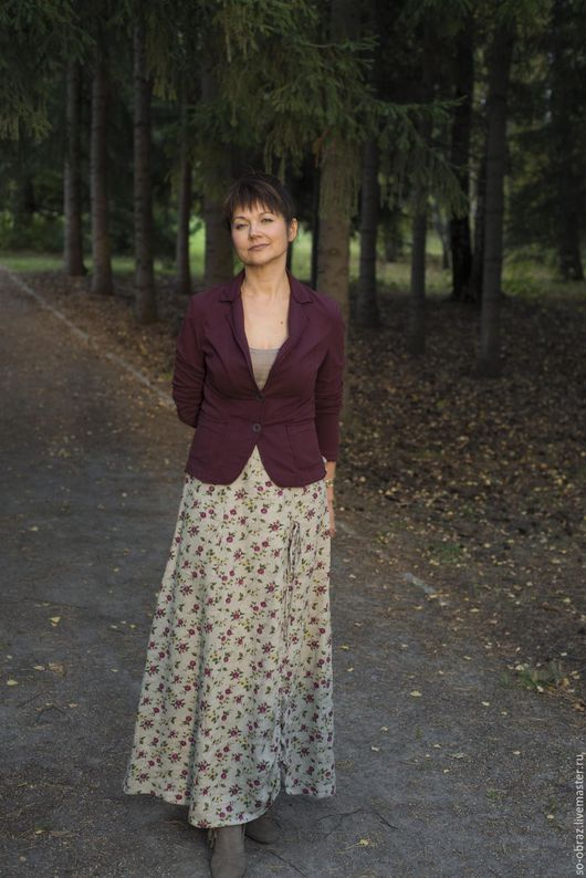 Юбки ручной работы. Ярмарка Мастеров - ручная работа. Купить Длнная льняная юбка для образа Ольги. Handmade. Юбка