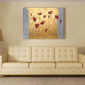 """Картины и панно ручной работы. Ярмарка Мастеров - ручная работа Интерьерная картина """"Мерцающие маки"""". Handmade."""