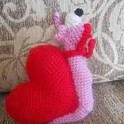 Подарки к праздникам ручной работы. Ярмарка Мастеров - ручная работа Улитка - валентинка. Handmade.