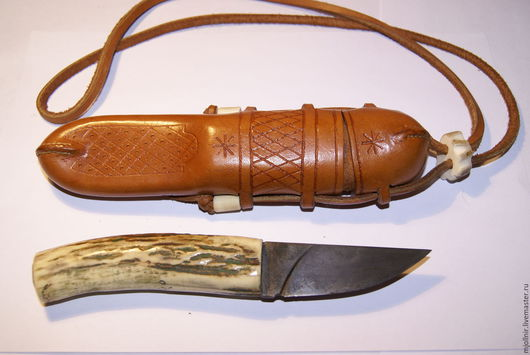Персональные подарки ручной работы. Ярмарка Мастеров - ручная работа. Купить нож ручной работы. Handmade. Бежевый, подарок рыбаку