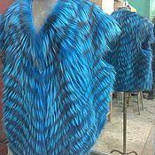 Одежда ручной работы. Ярмарка Мастеров - ручная работа Жилет цветная натуральная лиса. Handmade.